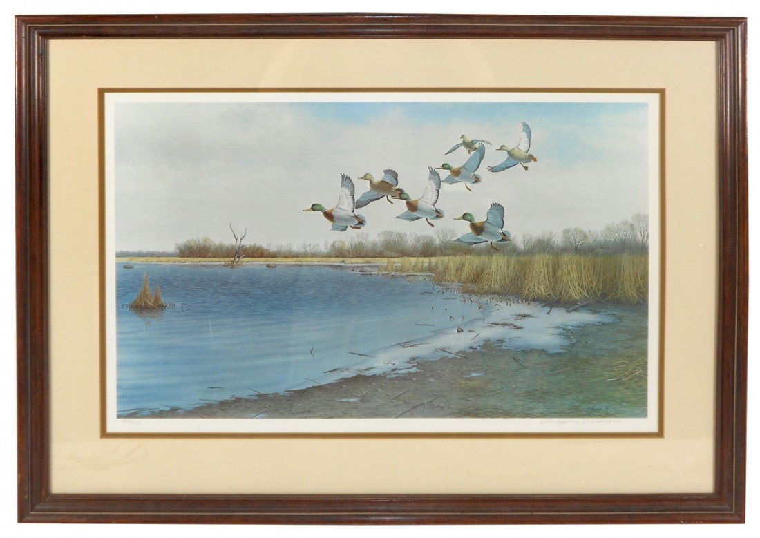 0860: Wildlife print, untitled, by artist Gregory C. Ca