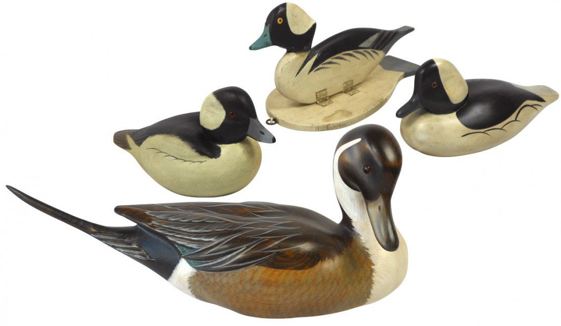 0863: Decoys (4), MN Ducks Unlimited Bufflehead drake &