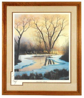 "Wildlife Print, ""Bevens Creek Whitetails"", By Art"