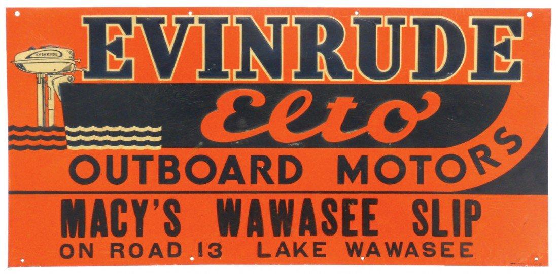 0895: Boat motor dealer advertising sign, Evinrude Elto
