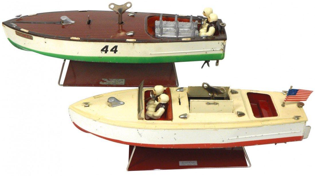 0902: Toy boats (2), Lionel Speeder & Racer #44, both t