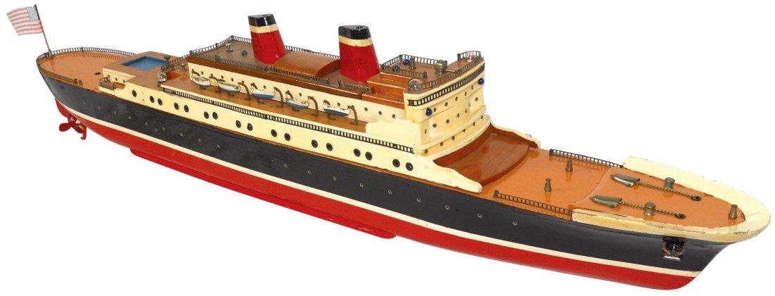 0905: Toy boat, Japanese ITO cabin cruiser, Rare, wood,