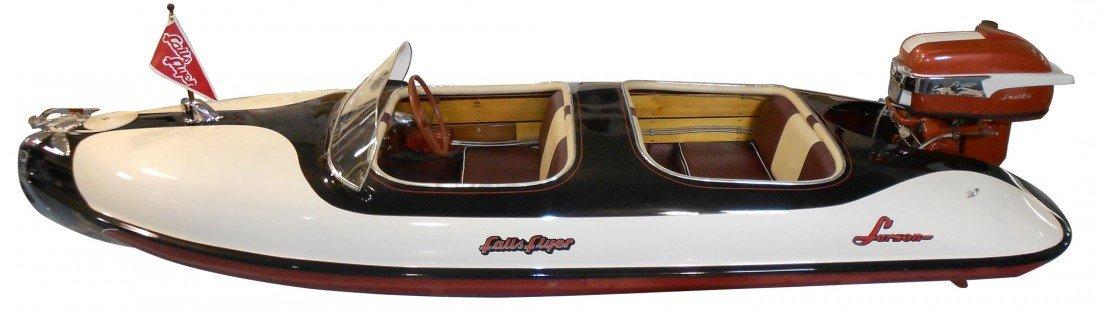 0910: Speed boat, Larson Falls Flyer Outboard, fibergla