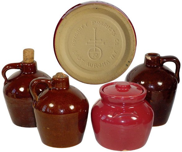 3: Roycroft Products Co. jugs (3) & Roycroft covered po
