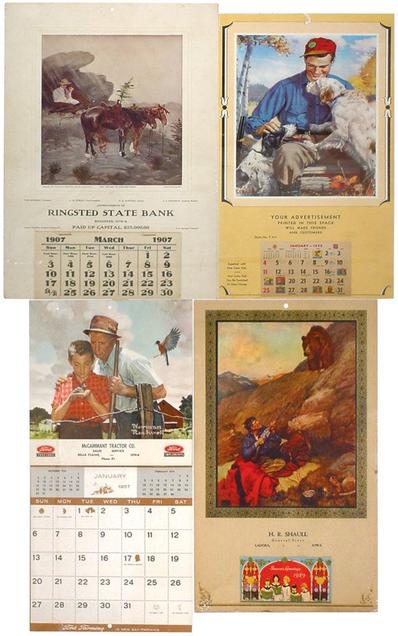 17: Iowa advertising calendars (4); Ringsted State Bank