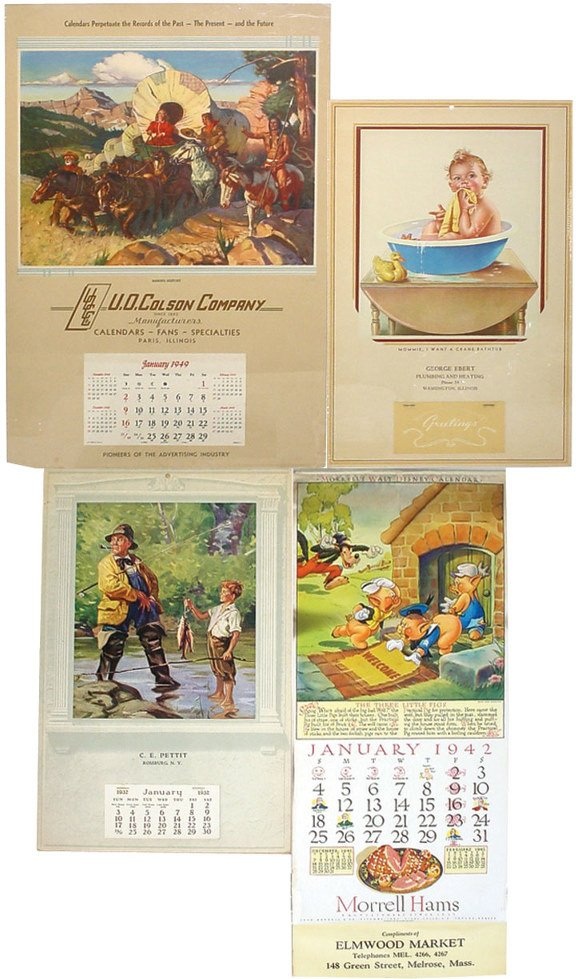 18: Advertising calendars (4); Morrell's Walt Disney Ca