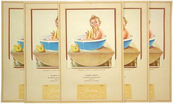 19: Washington, IL advertising calendars (5); George Eb