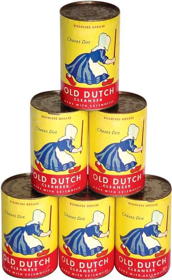 23: Old Dutch Cleanser cans (6); all new old stock full
