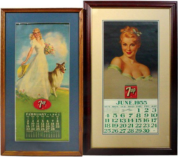 560: 7up 1941 calendar w/Feb.-Dec. pad & 7up 1955 calen