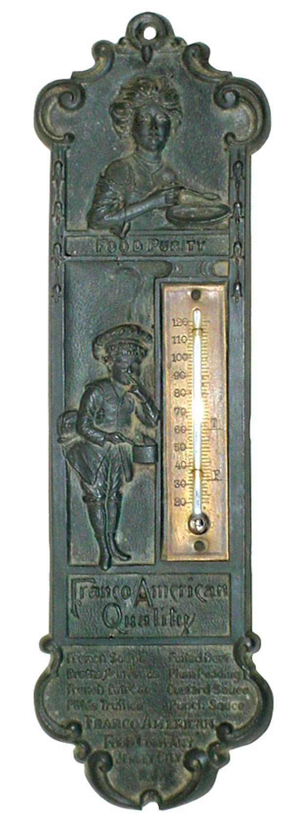 571: Franco American Food thermometer, very detailed ca