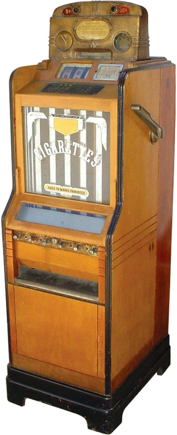 963: Jennings Ciga-rola slot machine & cigarette vendin