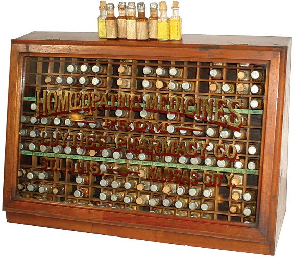 1055: Luyties' Pharmacy Homeopathic Medicine display ca