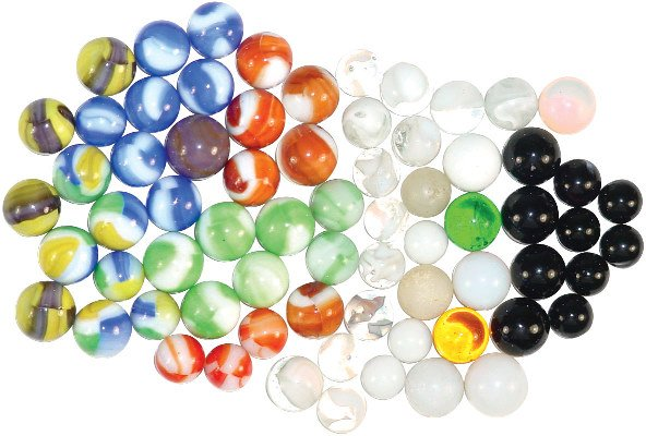 1219: Marbles (69); includes Akro-Agate Moonies & Opals