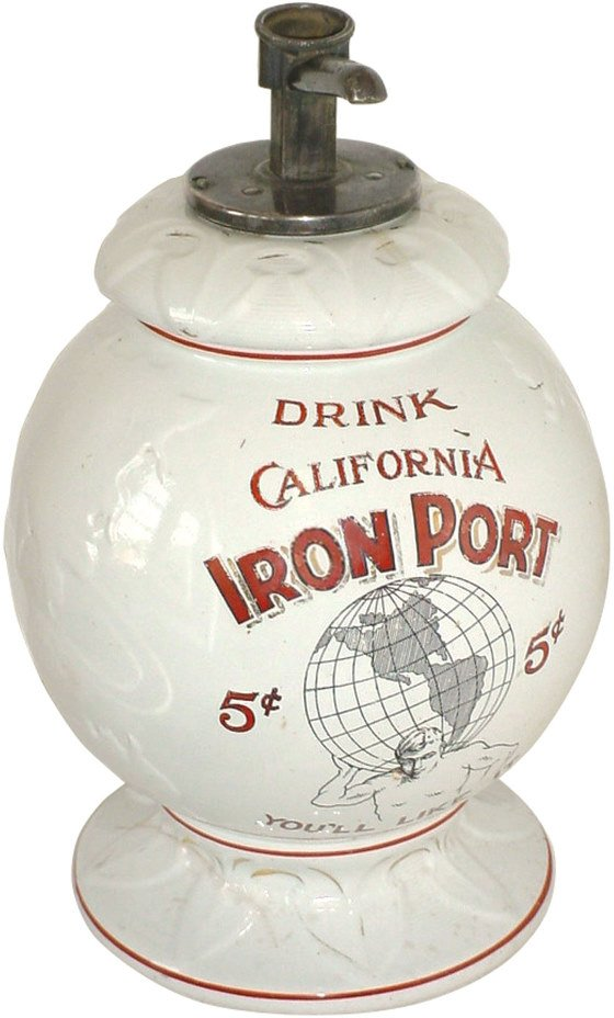 1314: Syrup dispenser, Drink California Iron Port, 5 Ce
