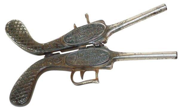 "1497: Figural boot jack, ""The American Bull Dog Boot J"