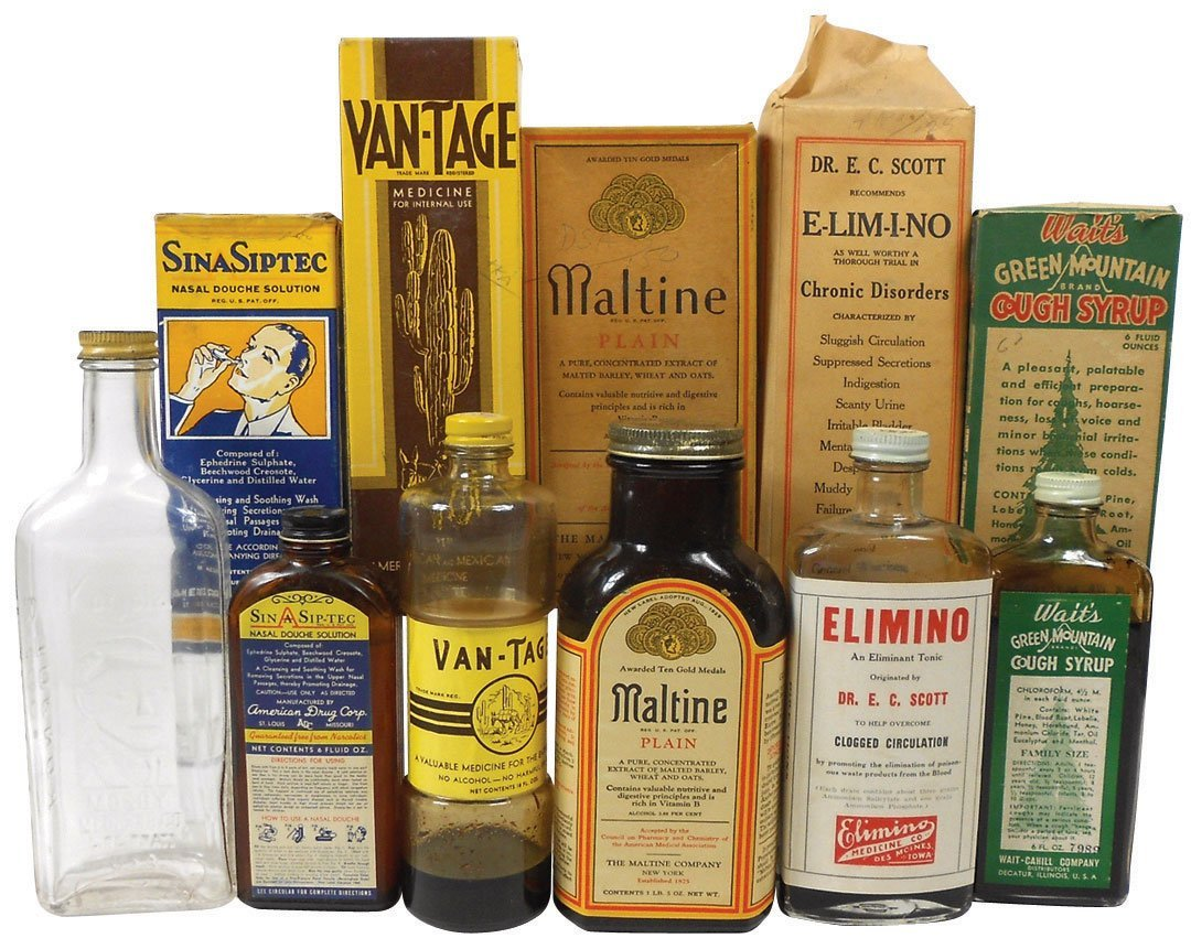 0008: Drug Store medicines (6), E-Lim-I-No Tonic, Wait'