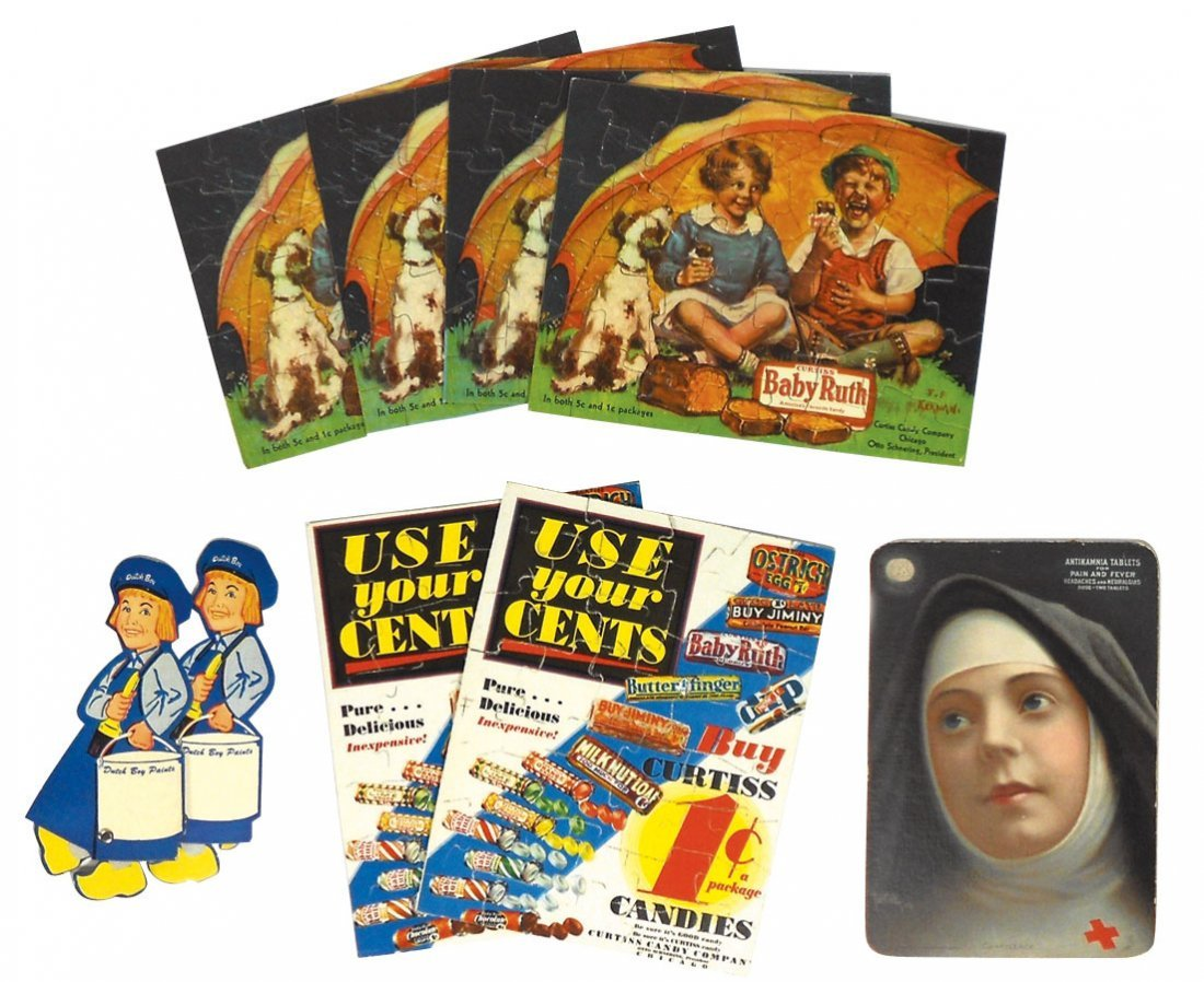 0011: Advertising puzzles (6), Curtiss Baby Ruth 1 & 5