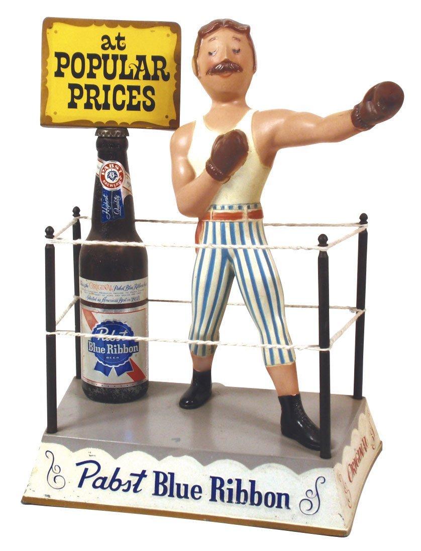 0013: Breweriana display figure, Pabst Blue Ribbon boxe