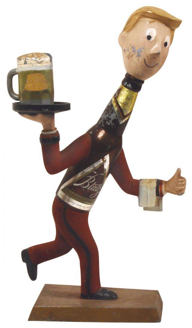 "0014: Breweriana display figures (2), Blatz ""Bottle"" wa"