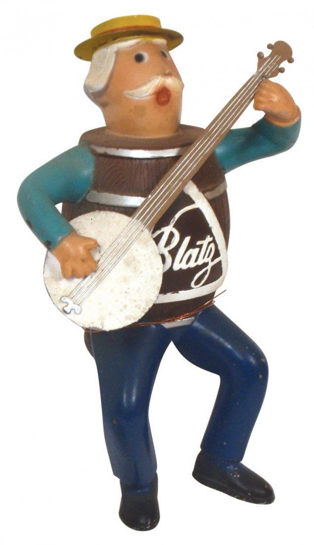"0017: Breweriana display figure, Blatz ""Barrel"" man pla"
