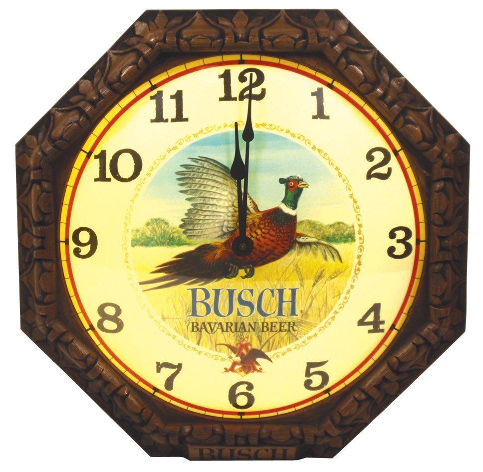 0019: Breweriana, Busch Bavarian Beer light-up clock w/