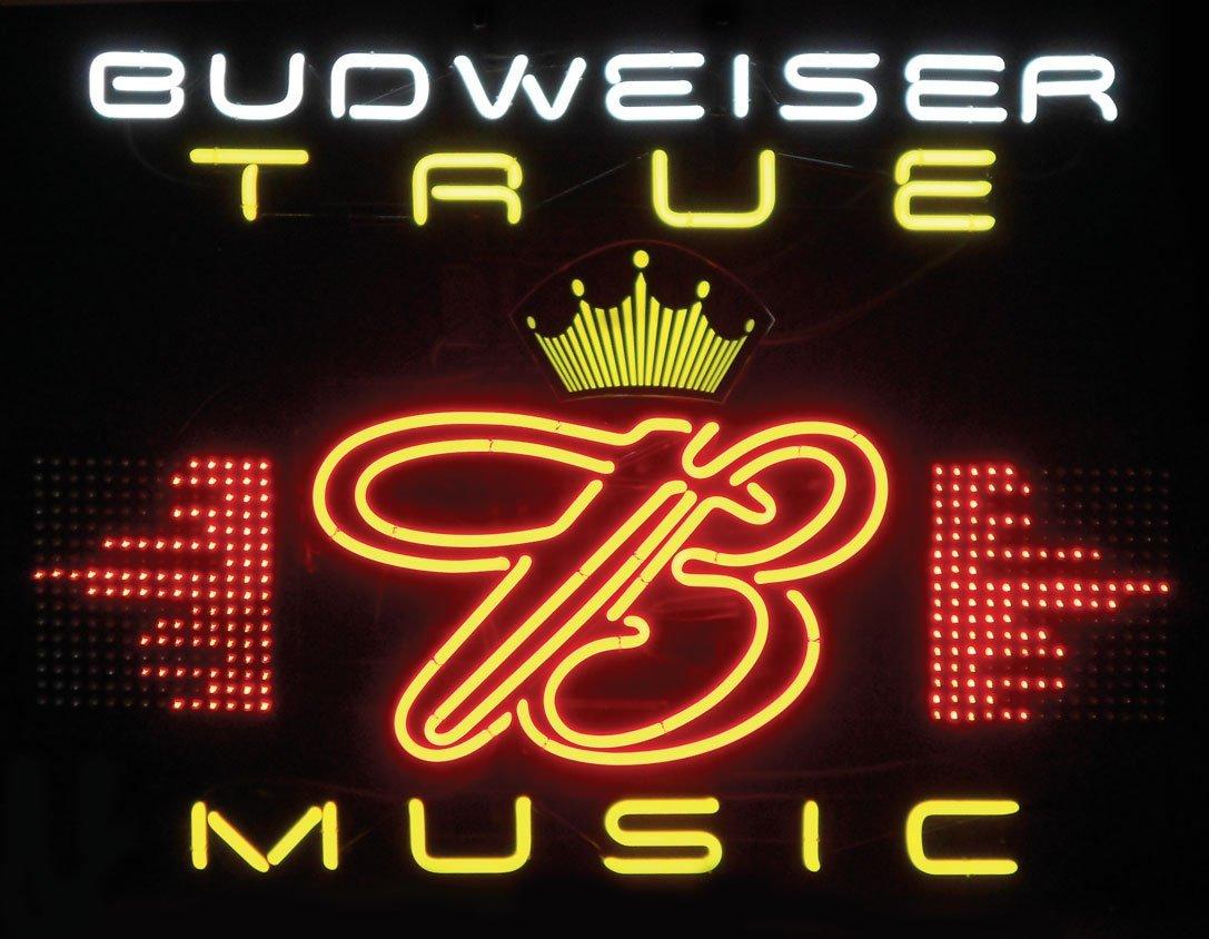 0023: Breweriana, Budweiser True Music Equalizer neon s