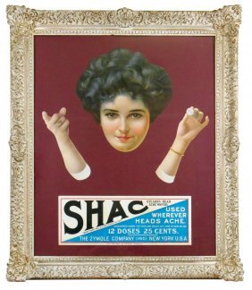 Advertising Sign For SHAC (Stearns Head Ache Cure