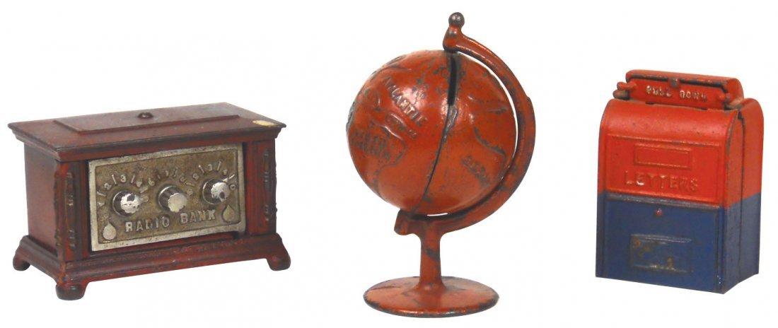 0148: Still banks (3), Radio w/3 dials, Kenton Toys-Ken