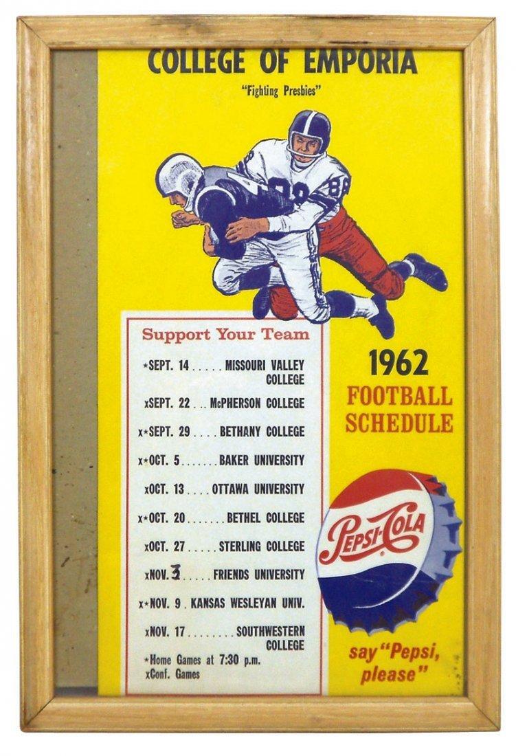 0152: Pepsi advertising w/football schedules (2), 1962,