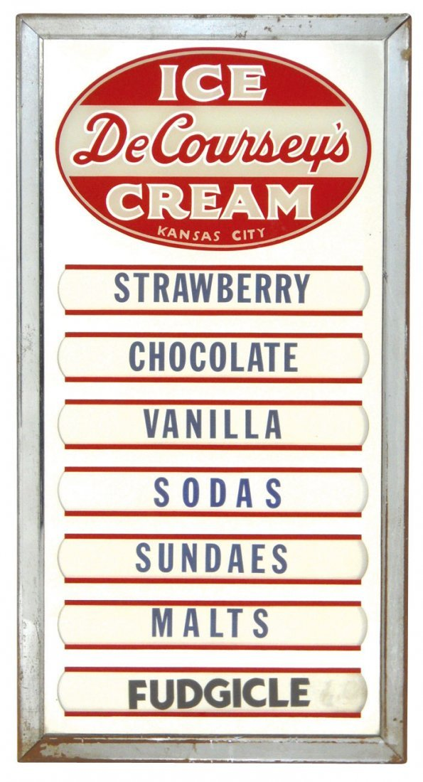 0155: Soda fountain ice cream flavor boards (2), from D