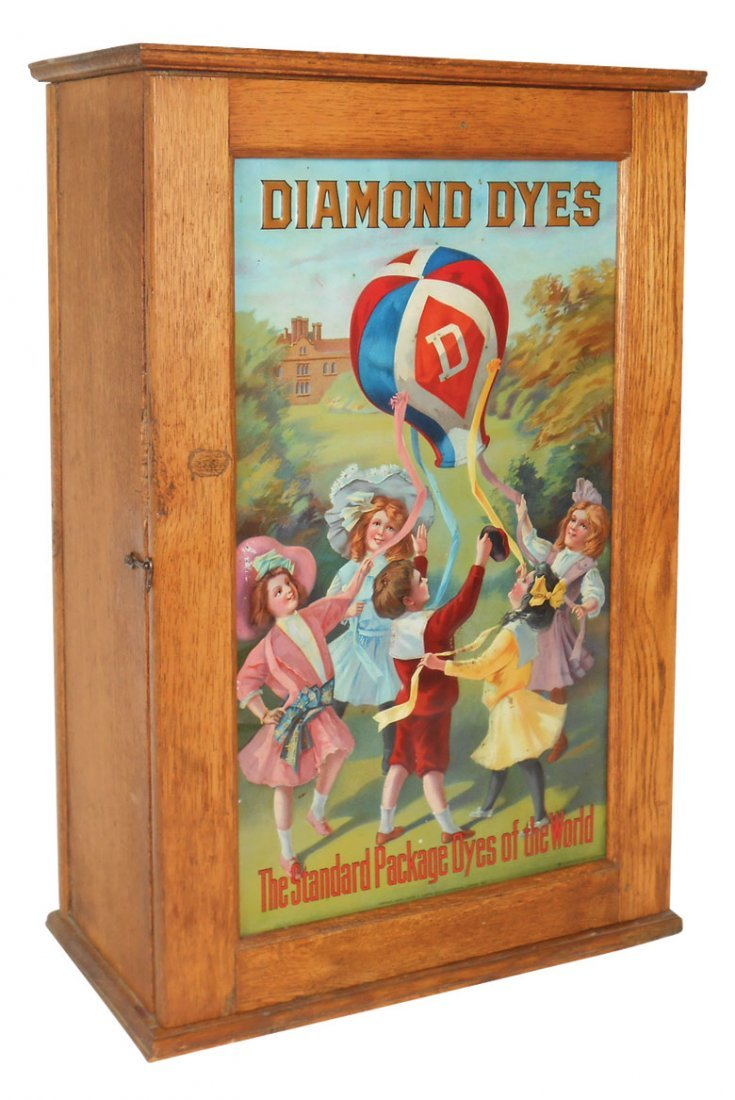 0163: Diamond Dyes cabinet, Children with the Balloon e