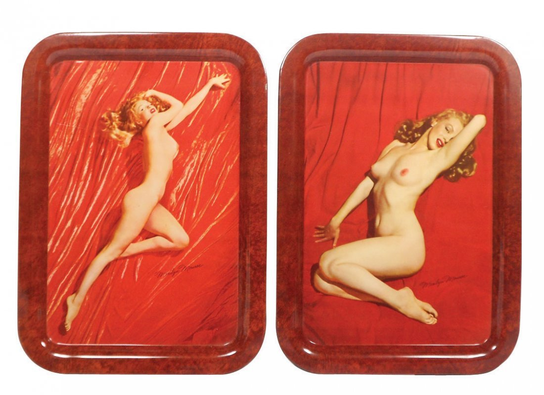 0166: Nude Marilyn Monroe photo pose trays (2), by phot