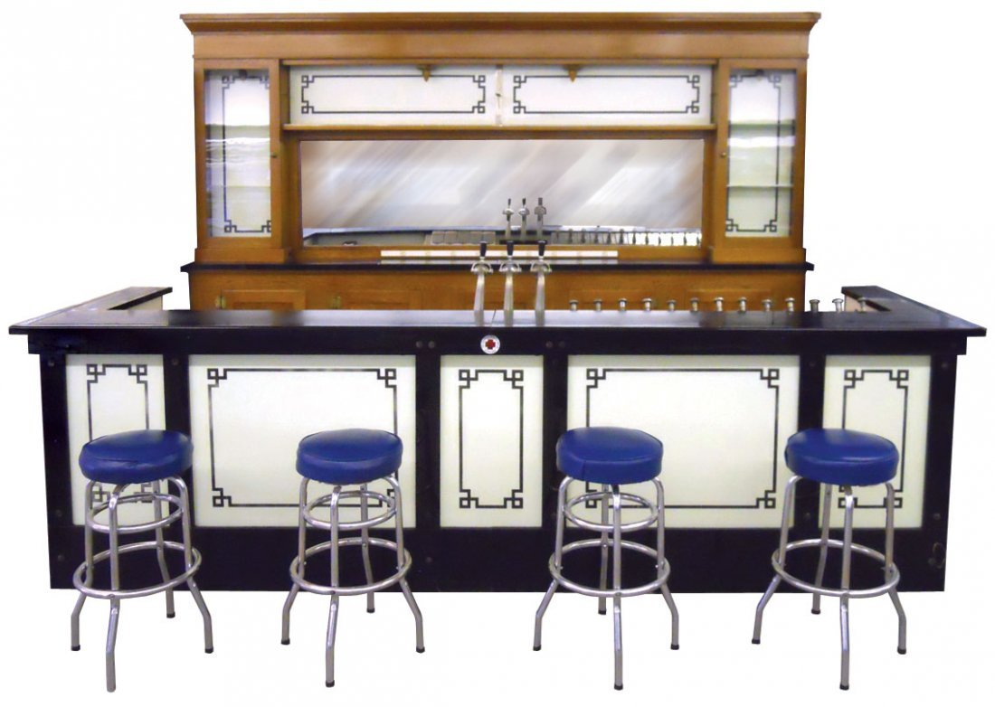 0376: Soda fountain front & back bar, from the Addleman