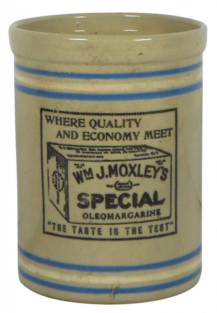 0767: Stoneware, advertising butter crock for Wm. J. Mo