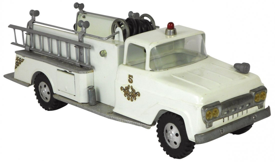 0945: Toy Fire Truck & Badge, Tonka Fire Chief Badge, # - 2