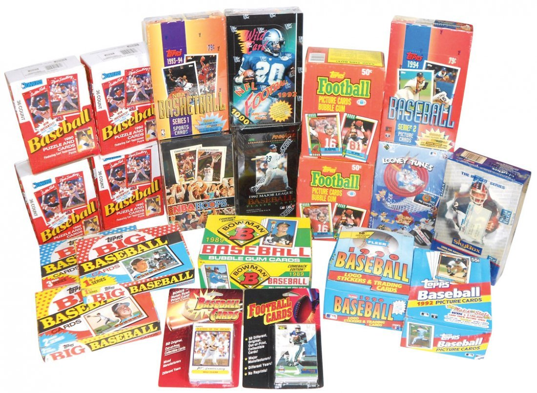 Sports cards (20 boxes), Baseball: 5 topps-'89, '92 & '