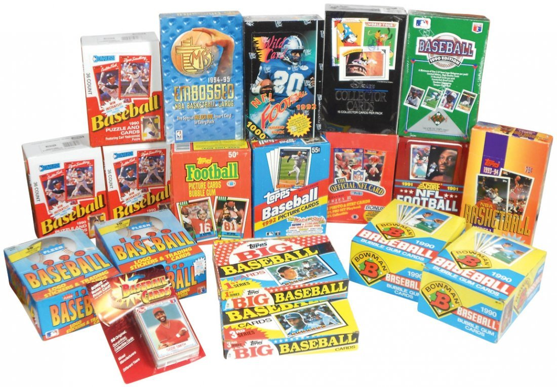 Sports cards (20 boxes), Baseball: 4 topps-'89 & '92, 3