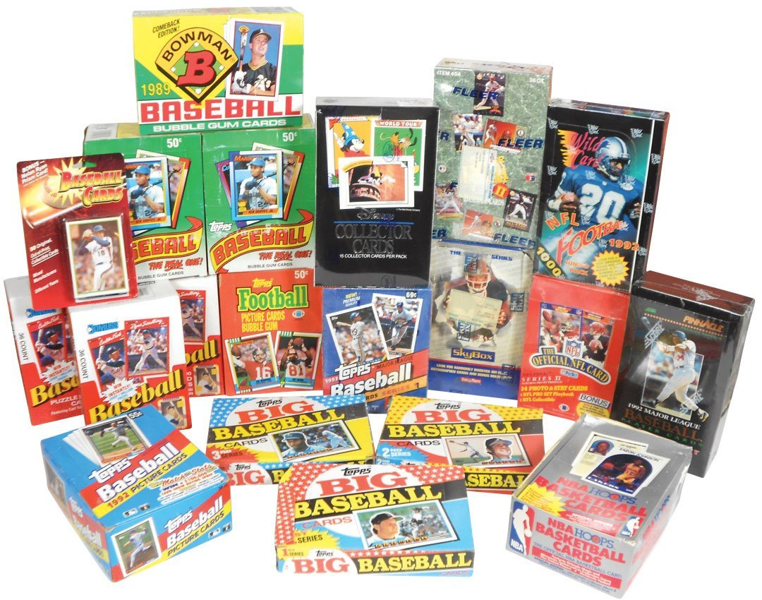 Sports cards (20 boxes), Baseball: 7 topps-'89-90, '92-