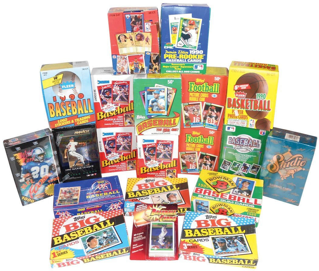 Sports cards (20 boxes), Baseball: 4 topps-'89-90, 3 Do