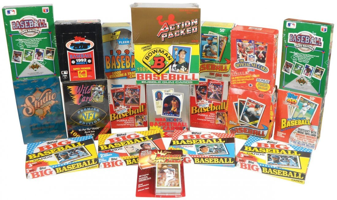 Sports cards (20 boxes), Baseball: 8 topps-'88-90 & '92