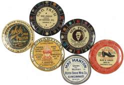 Advertising pocket mirrors (6), from Cinc businesses, G