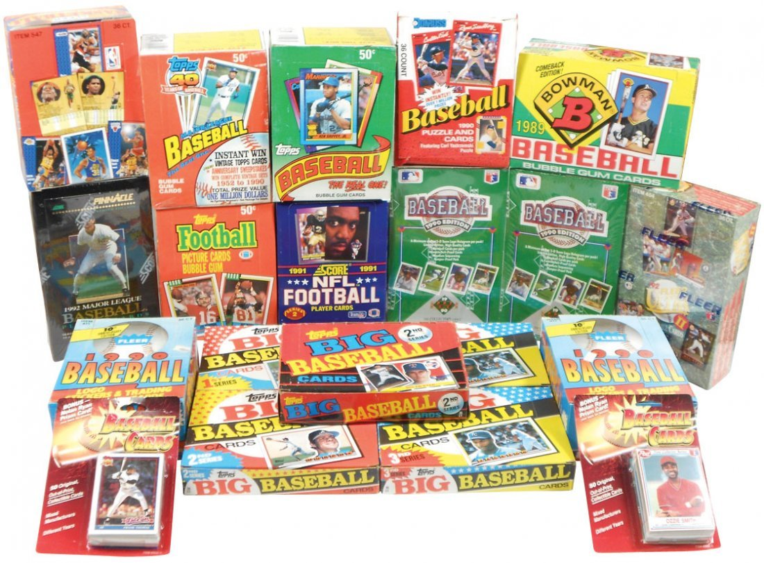 Sports cards (20 boxes), Baseball: 7 topps '89-91; Donr