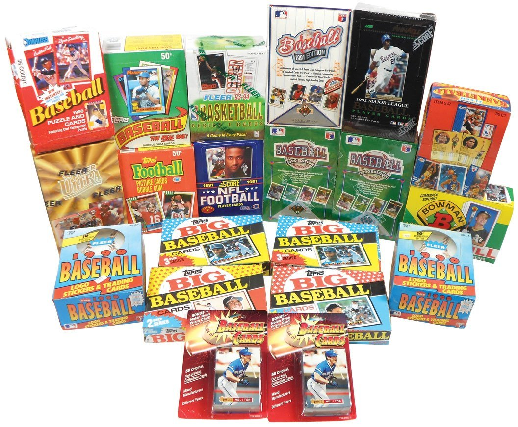Sports cards (20 boxes), Baseball: 5 topps-'88-90; Donr