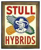 Advertising sign, Stull Hybrids, colorful litho on embo