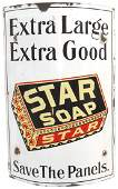 Advertising sign, Proctor & Gamble Star Soap curved por