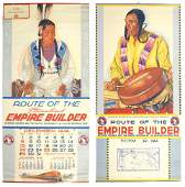 Railroad calendars wIndians 2 from Great Northern Ra