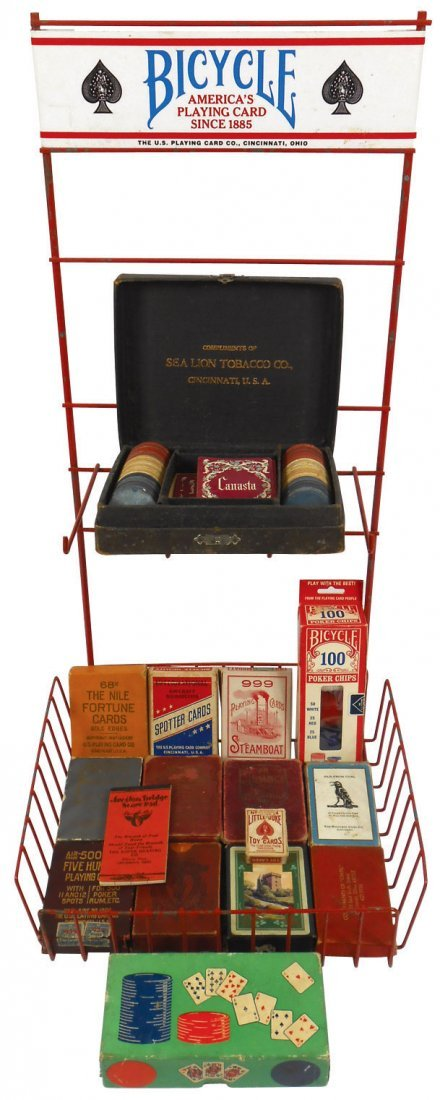 "The U.S. Playing Card Co.-Cinc ""Bicycle"" display rack,"