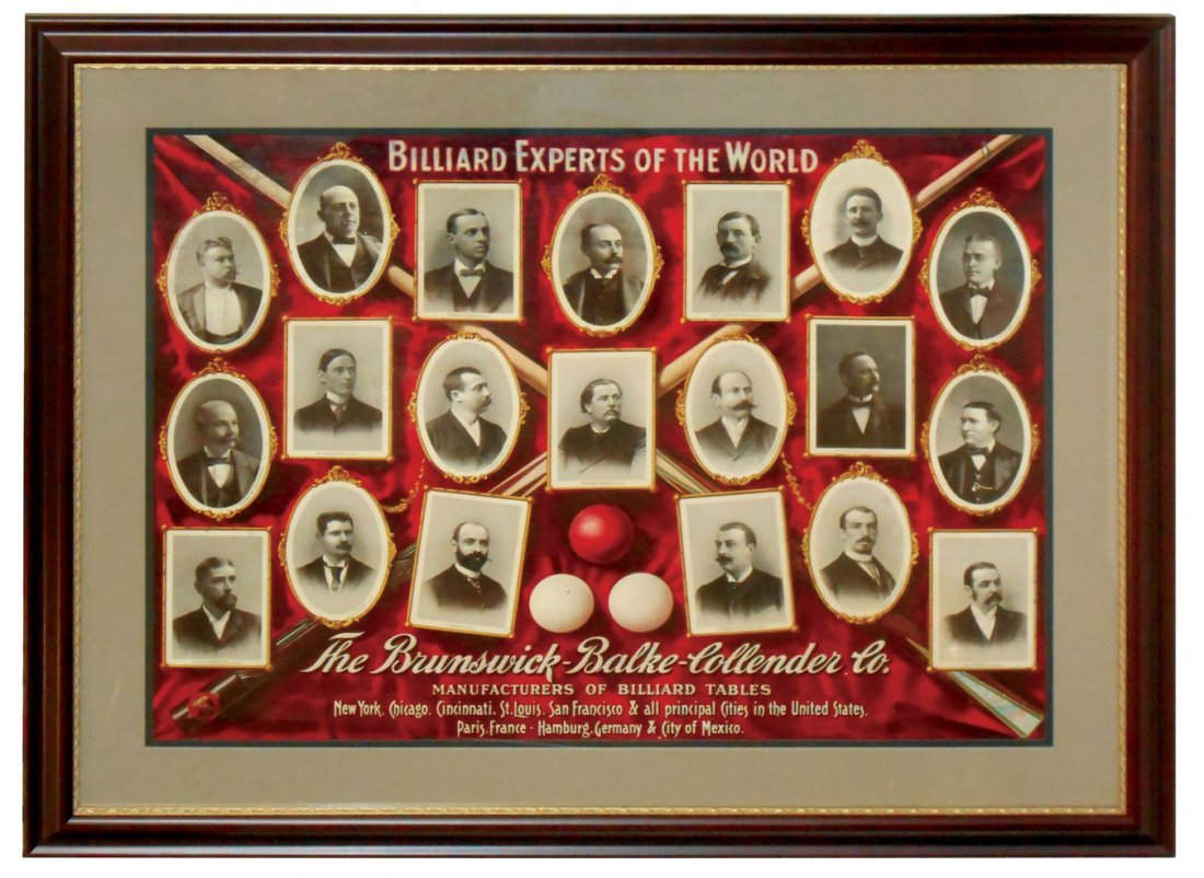 "Billiard poster, ""Billiard Experts of the World"", issue"