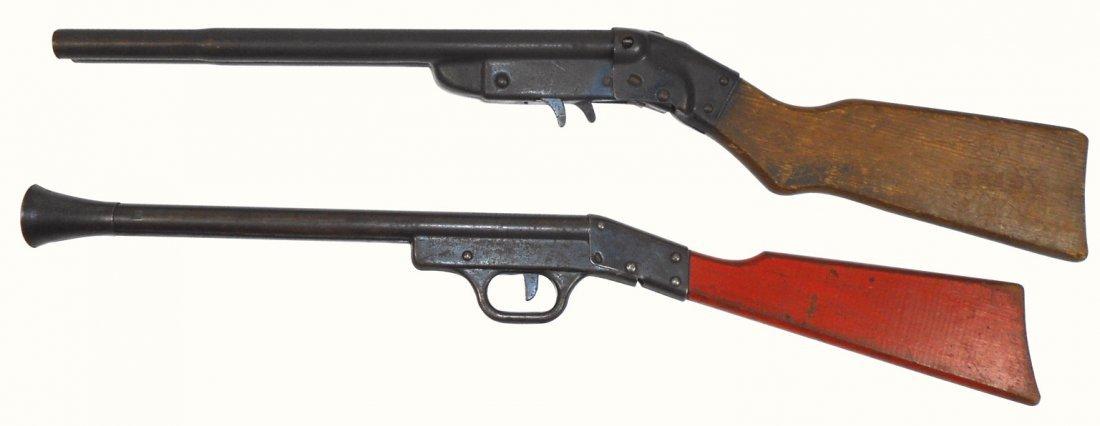 Toy pop guns (2), Daisy double barrel, pat no. 1,830,29