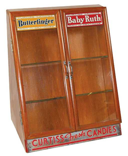 Advertising Counter Display Case For Curtiss